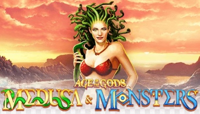 Age of the Gods Medusa and Monsters Logo