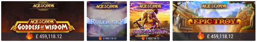 Age of the Gods Multi Game Jackpot